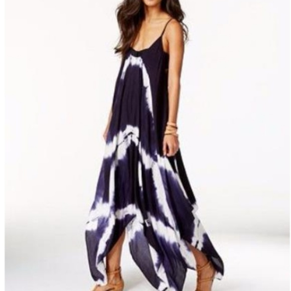 cf2aa67d054ca Raviya Tie Dye Hanky Hem Swim Cover Maxi Dress